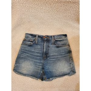 NEW! Madewell The Perfect Jean Shorts 25